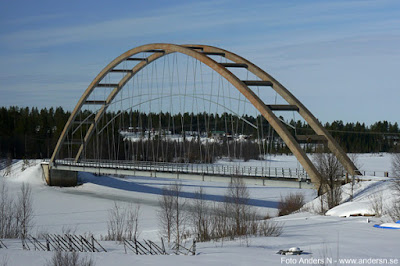 järnvägsbro, Lappland, Kalix älv, Lappeasuando