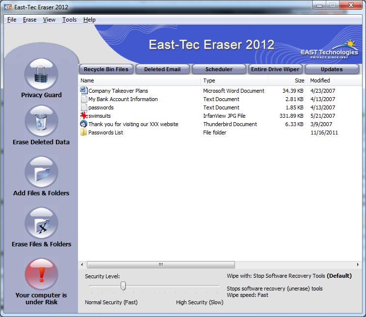 East-Tec Eraser Full Program İndir