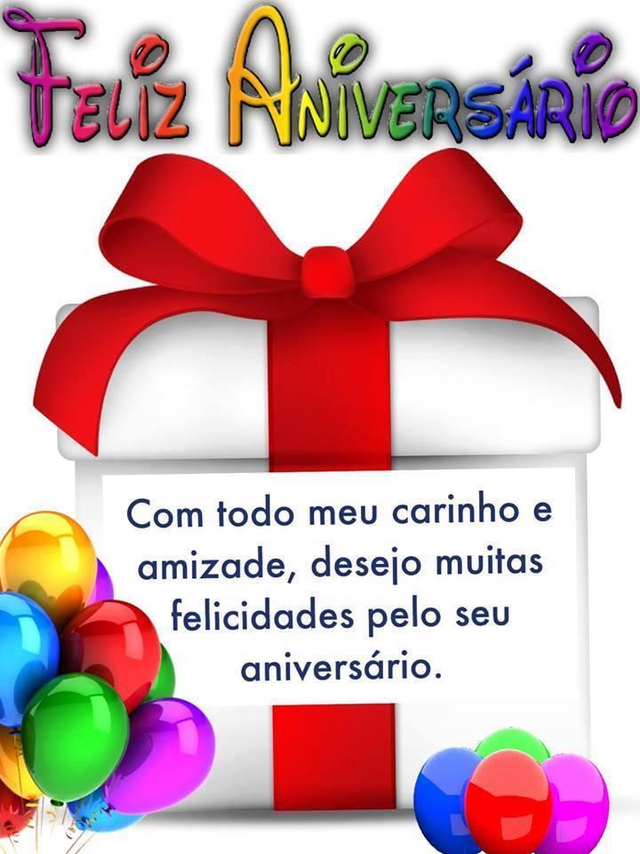 Feliz Aniversário carinho e amizade