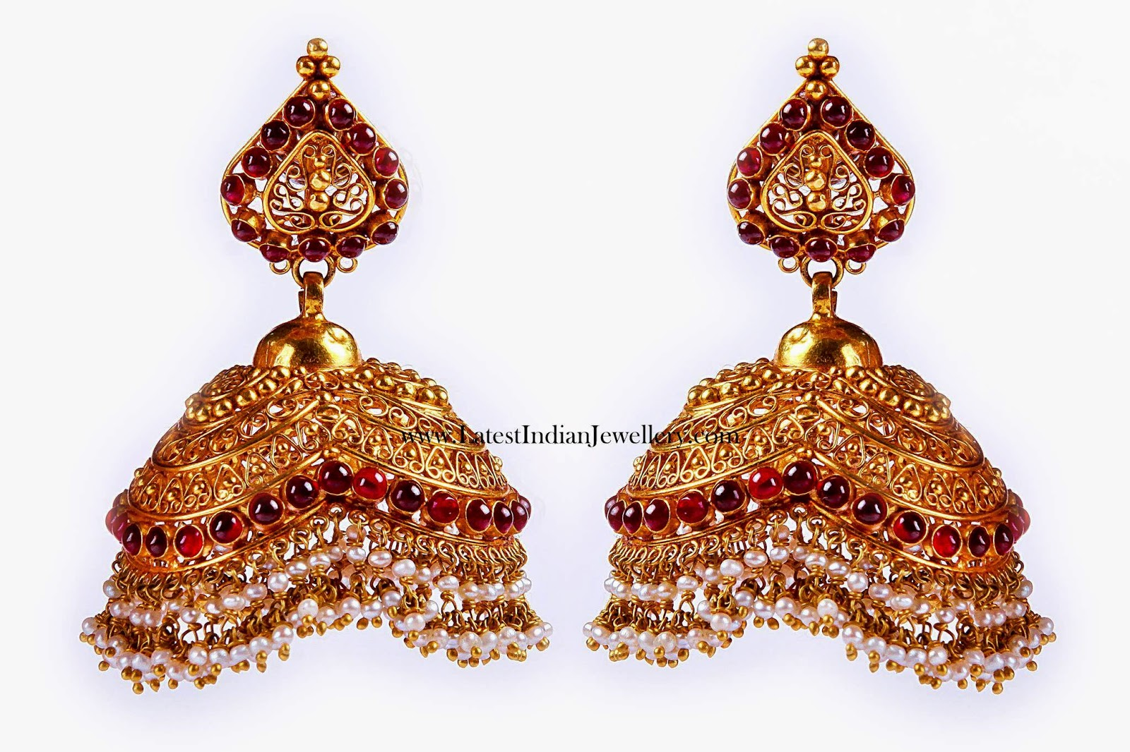 Latest Gold Bridal Jhumkas