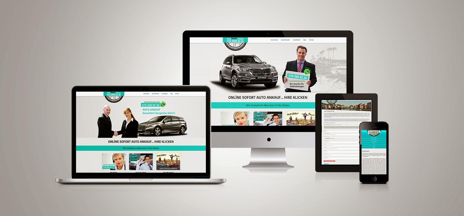 Responsive Araba Satış Site Tasarımı
