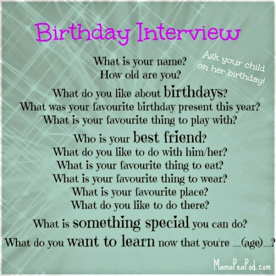 kids birthday interview free printable