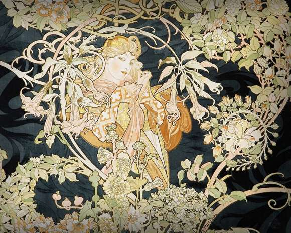 Alphonso Mucha Art Painting Wallpapers 03