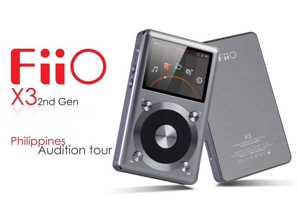 FiiO X3 2nd generationがフィリピンで登場(X3K, X3Ⅱのことです