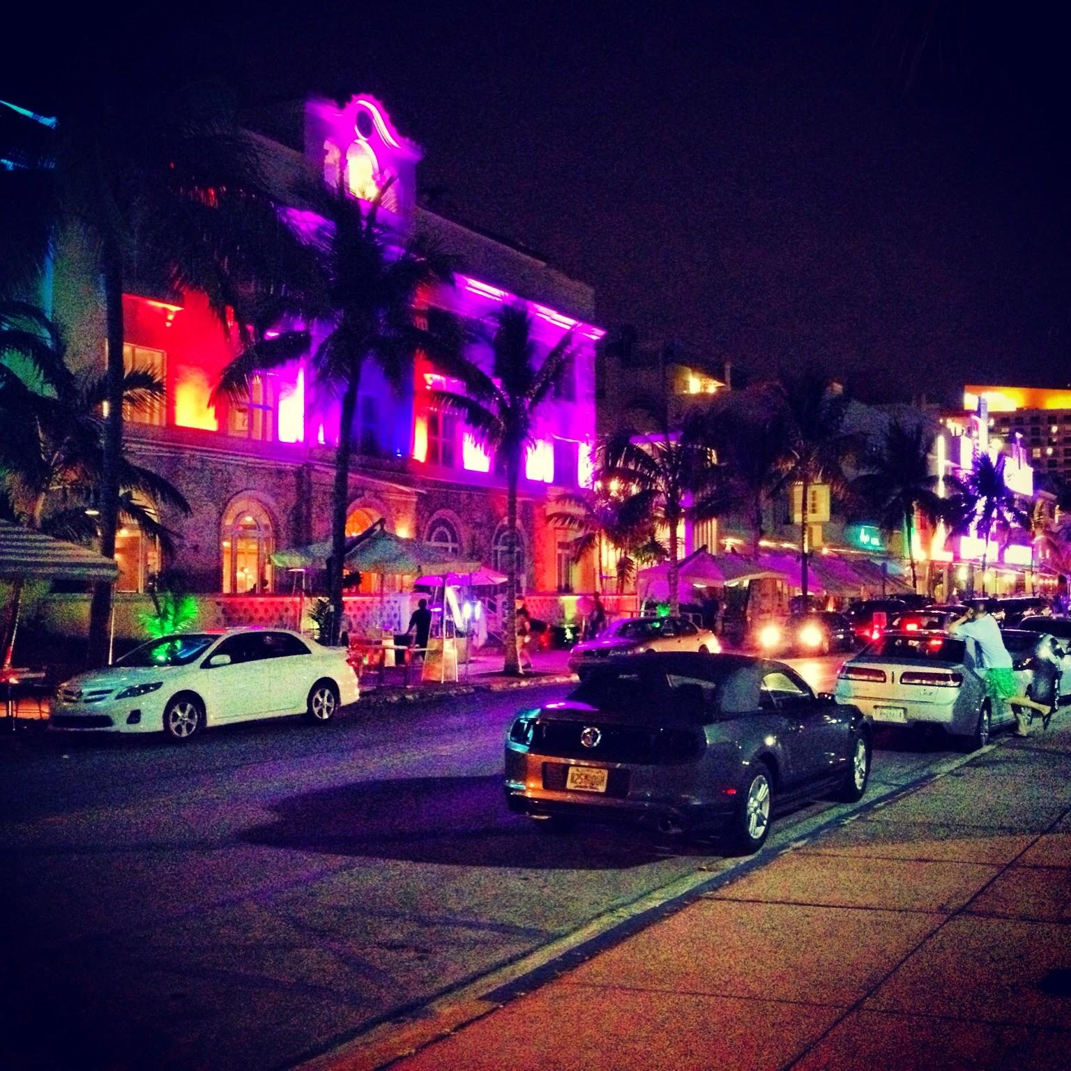 Miami Beach, Polizei, Drogen, Auto, Pizza, Lichter, Miami Beach, Police, Drug, Auto, Pizza, lights
