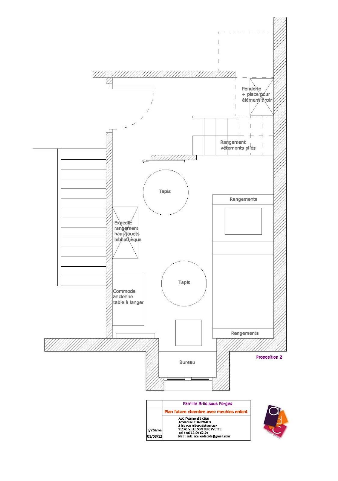 #B45717 AdC L'Atelier D'à Côté : Aménagement Intérieur Design D  3031 plan petite chambre bebe 1124x1600 px @ aertt.com