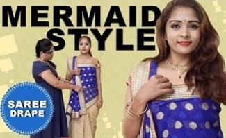Mermaid style saree draping | Say Swag