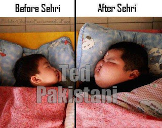 Before & after Sehri