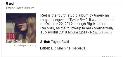 Taylor Swift RED Album Songs And Information