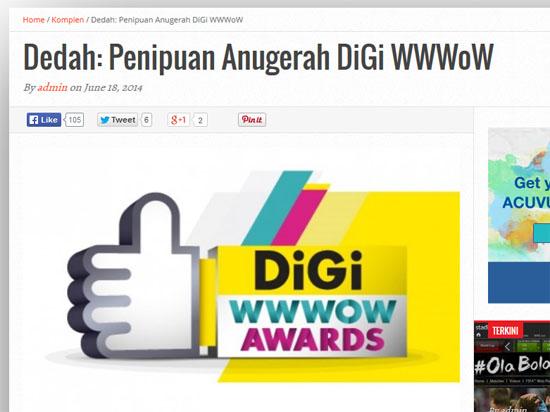 Anugerah Menipu Blogger Malaysia