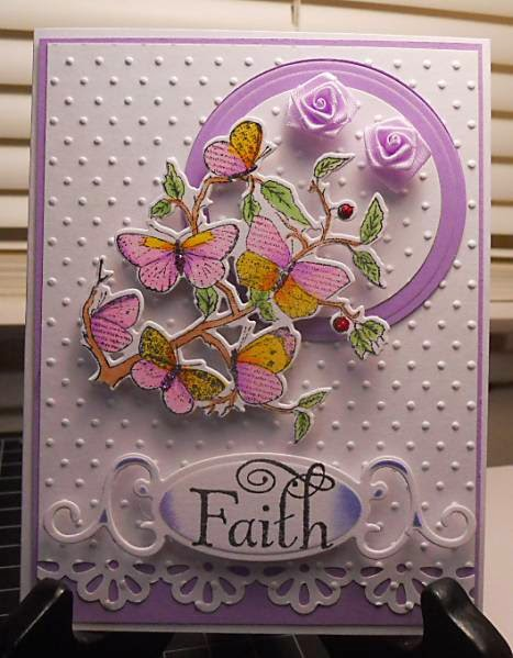 ODBD Faith and custom Butterfly Die, Card designer Becky Reed aka RIRed2
