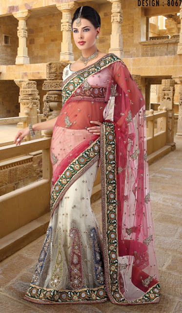 Embellished Indian Net Saree