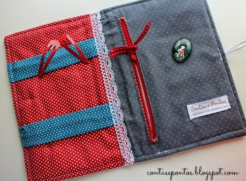 Bolsa para ganchos em tecido - gorjuss girls