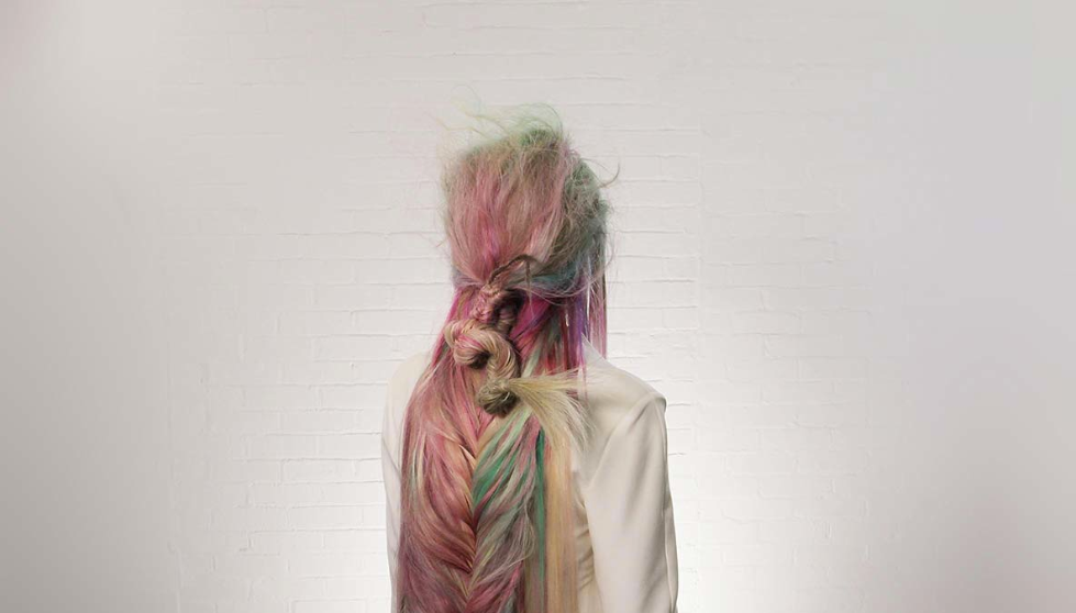 Wella, Trend Vision, pastel, hair, fishtail, neon, mermaid hair,
