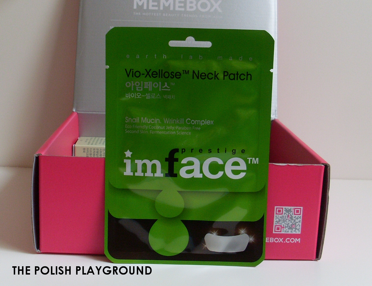 Memebox Special #35 Moisture Surge Unboxing - imface Vio-Xellose Neck Patch