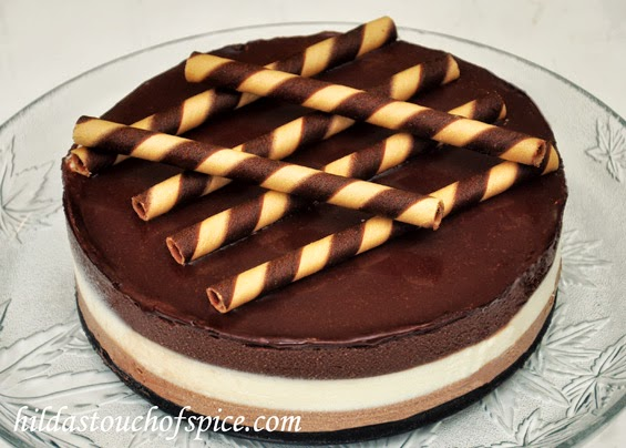 Triple Chocolate Mirror Cheesecake - Hilda's Touch Of Spice