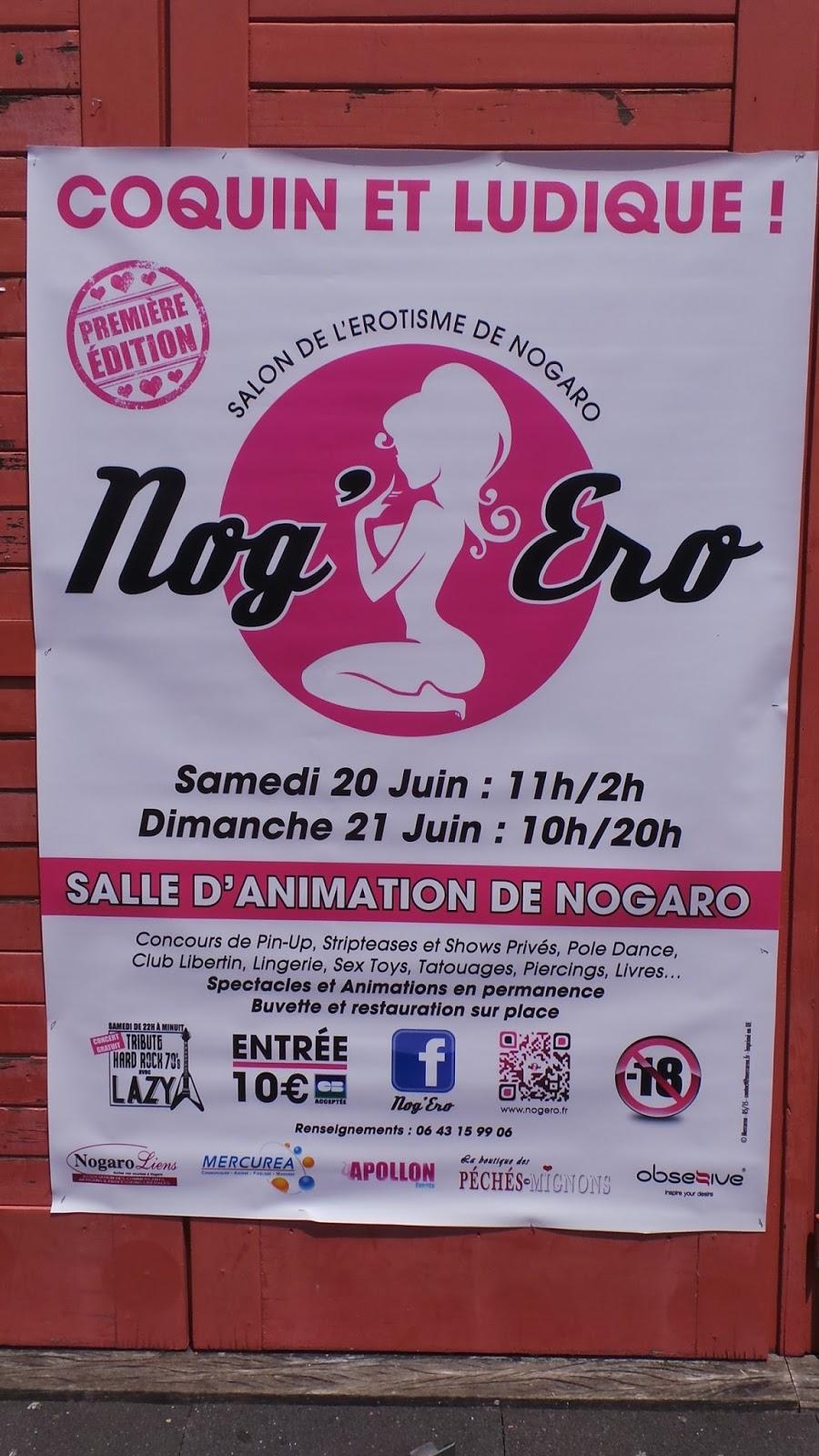 Salon nog ero salon de l 39 rotisme nogaro 32 for Salon de l erotisme tours