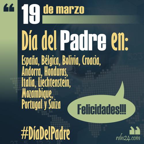 19 de marzo #FelizDíaDelPadre ...