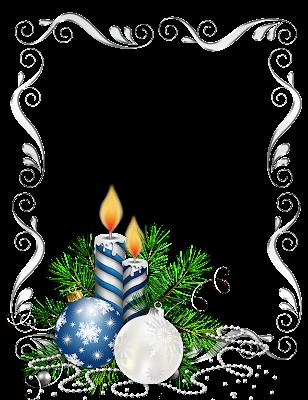 marco de foto navideño