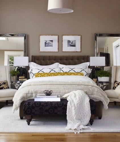 double mirrors bedroom