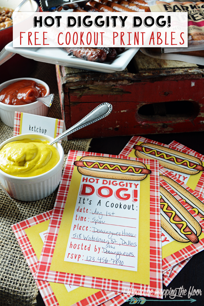 photograph regarding Hot Diggity Dog Bar Free Printable referred to as Scorching Diggity Doggy! Cost-free Cookout Printables i must be