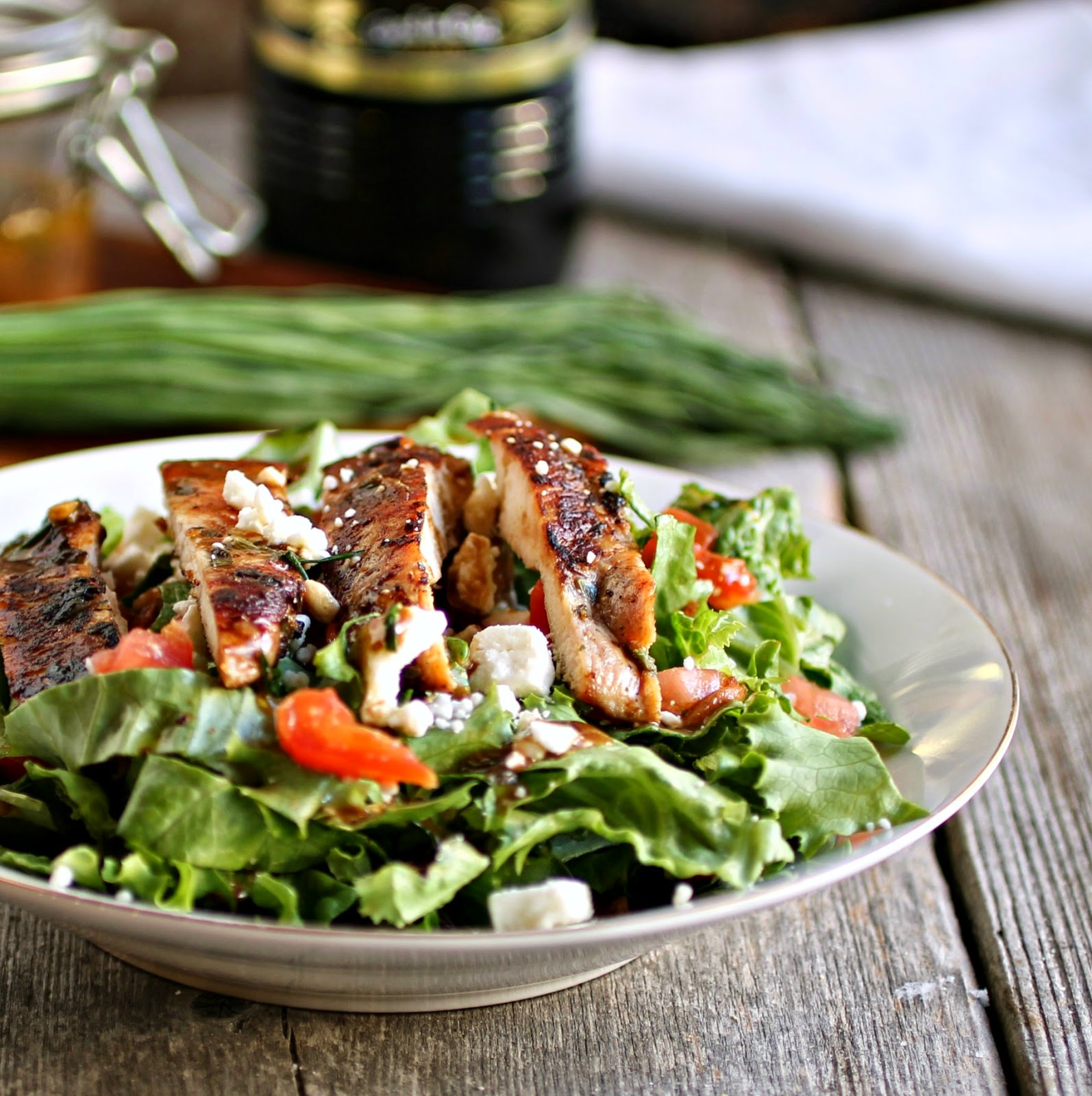 Hungry Couple: Grilled Chicken Salad with Creamy Greek Style ...