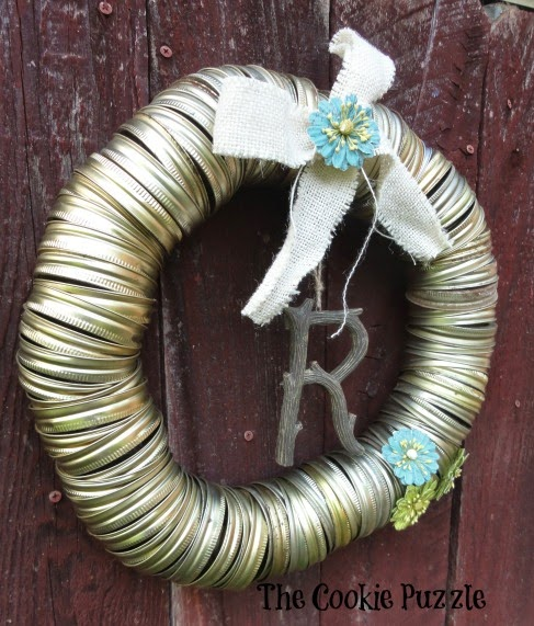 Canning Jar Lid Wreath