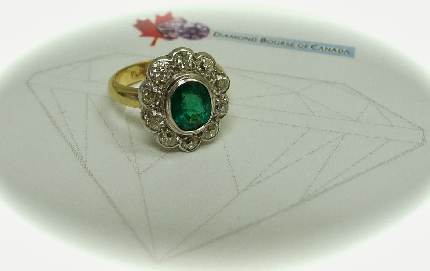 cafe antique and emerald ring