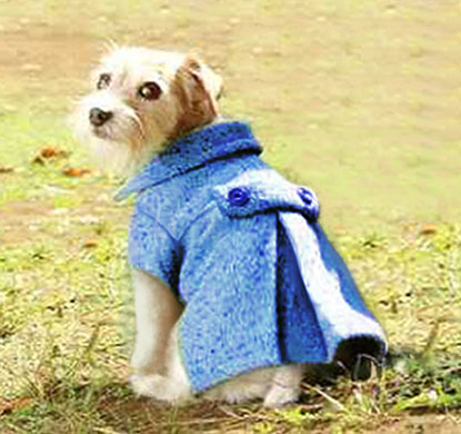 Doggy Pleated Wool Coat Pattern