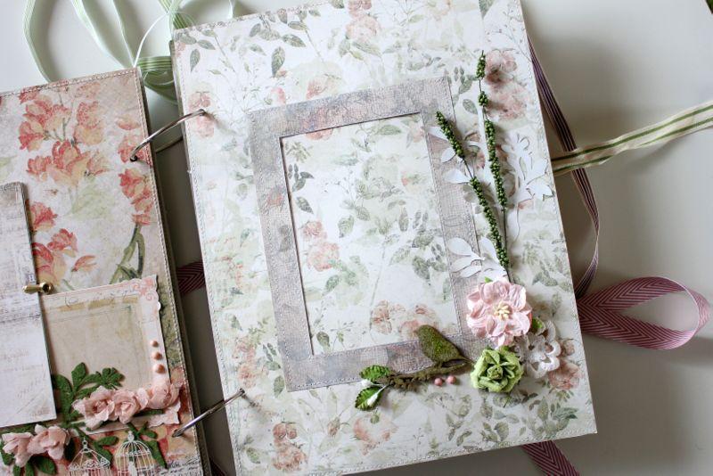 Цветы на фотоальбоме своими руками