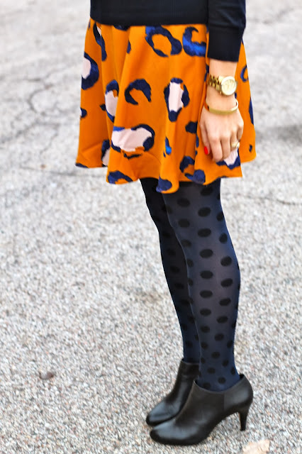 polka, dot, tights, J, crew