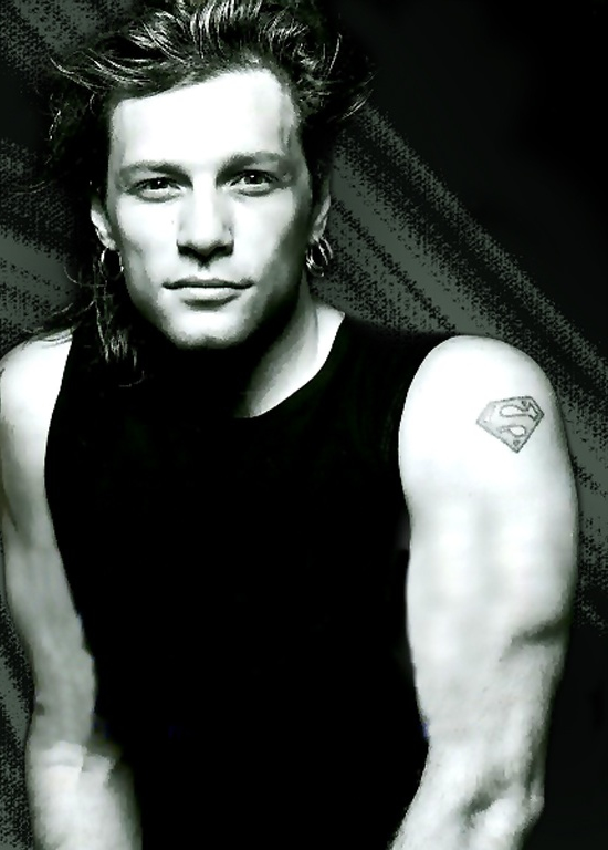 Hair tattoo lifestyle rocker jon bon jovi tattoos for Slippery when wet tattoo