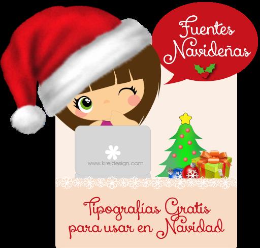 fuentes navideñas gratis