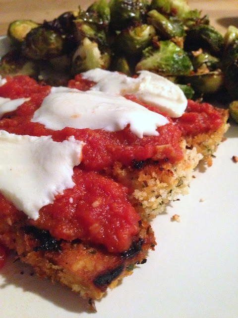 Breaded Tempeh with Spicy Tomato Sauce