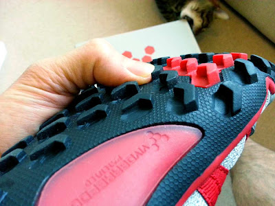 Serious off-road lugs on the Breatho Trail from Vivobarefoot