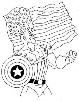 Fun Coloring Pages Superhero Captain America Coloring Pages