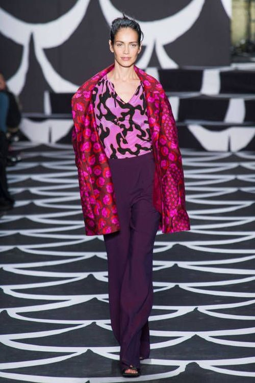 runway look: Diane von Furstenberg FW2014 RTW with radiant colors