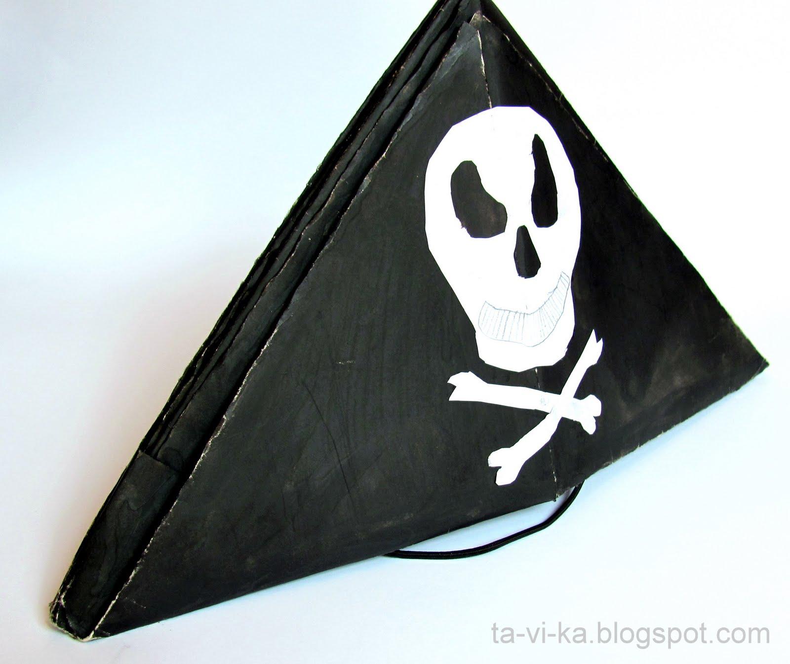 Пиратская шляпа из бумаги своими 70