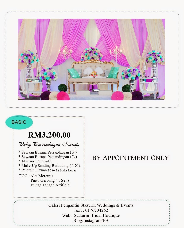 PROMOSI PAKEJ PERSANDINGAN BAWAH KHEMAH/KANOPI RM3,200.00