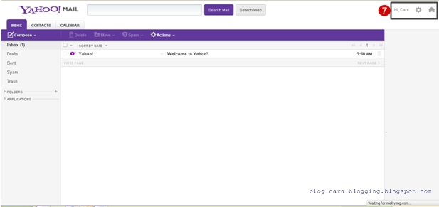 Langkah membuat email di Yahoo, Membuat email baru Yahoo