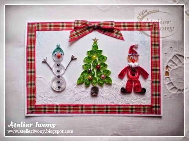 quilled santa, quillinowy mikołaj, bałwanek, bałwan, bonhomme de neige, snowman, snowflake, pere noel, dziadek mróz, gwiazdor, choinka, christmas tree, decorer l'arbre de Noel