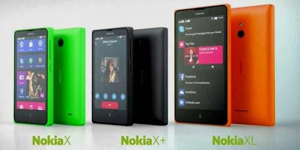 Harga dan Spesifikasi Lengkap Android Nokia X, X Plus dan XL