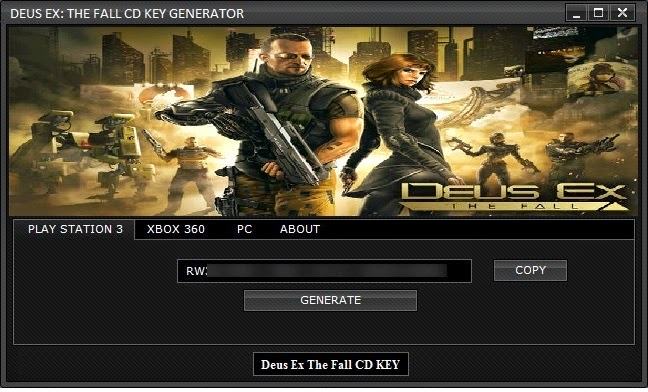 Deus Ex The Fall CD KEY Generator