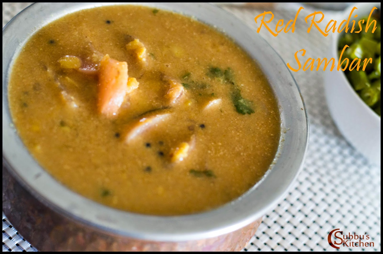Red Radish Sambar Recipe