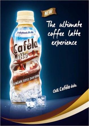 Minuman Cafela mantabnya campuran kopi susu dan krim
