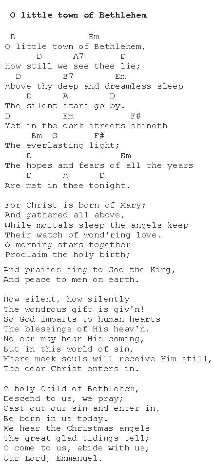 Oh Little Town of Bethlehem : Christmas Carols - Lyrics and History
