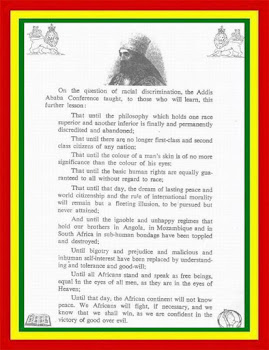 Profound Speech From His Imperial Majesty Selassie I 1st.