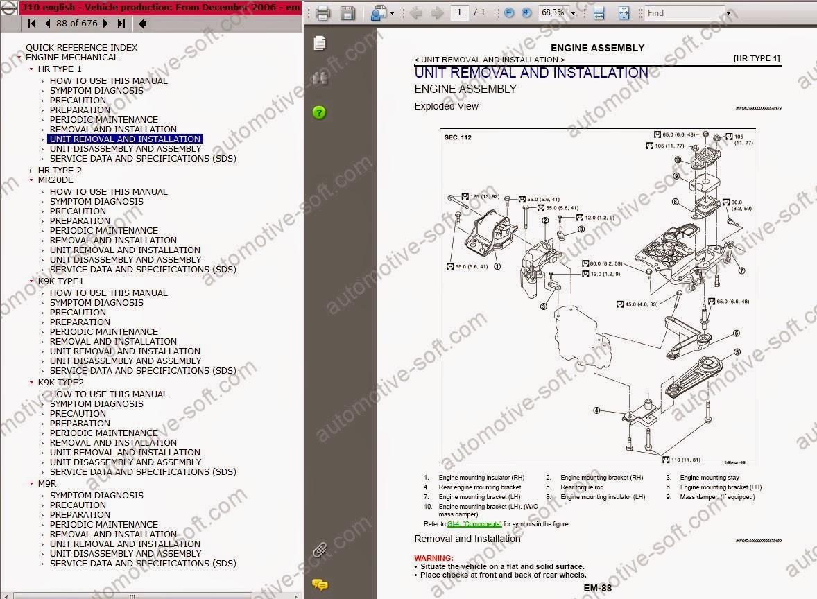 Nissan Micra K13 Service Manual