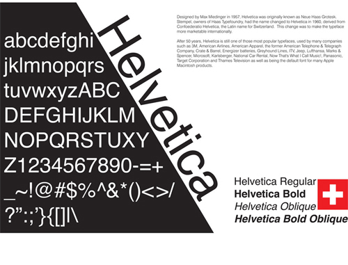 Helvetica Red Typography Poster