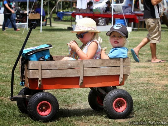L-R: Bella Heeringa, 4, Quinn Heeringa, 2, Twford School Country Fair, Twyford, Hastings photograph